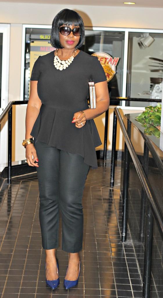 All Black Jackie O Style