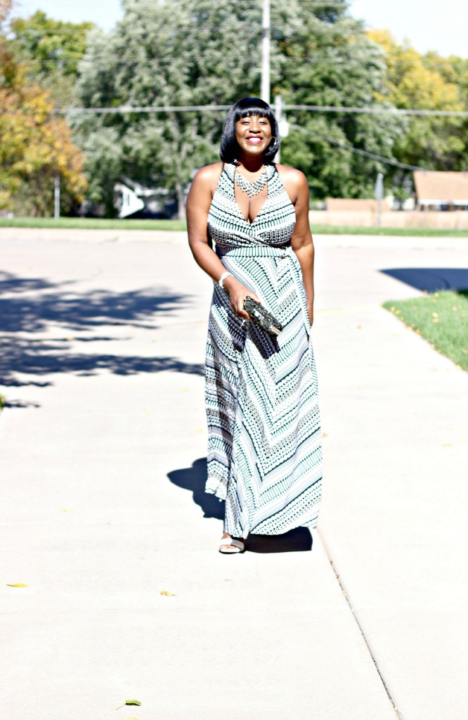 Printed Maxi Dress for Fall 13