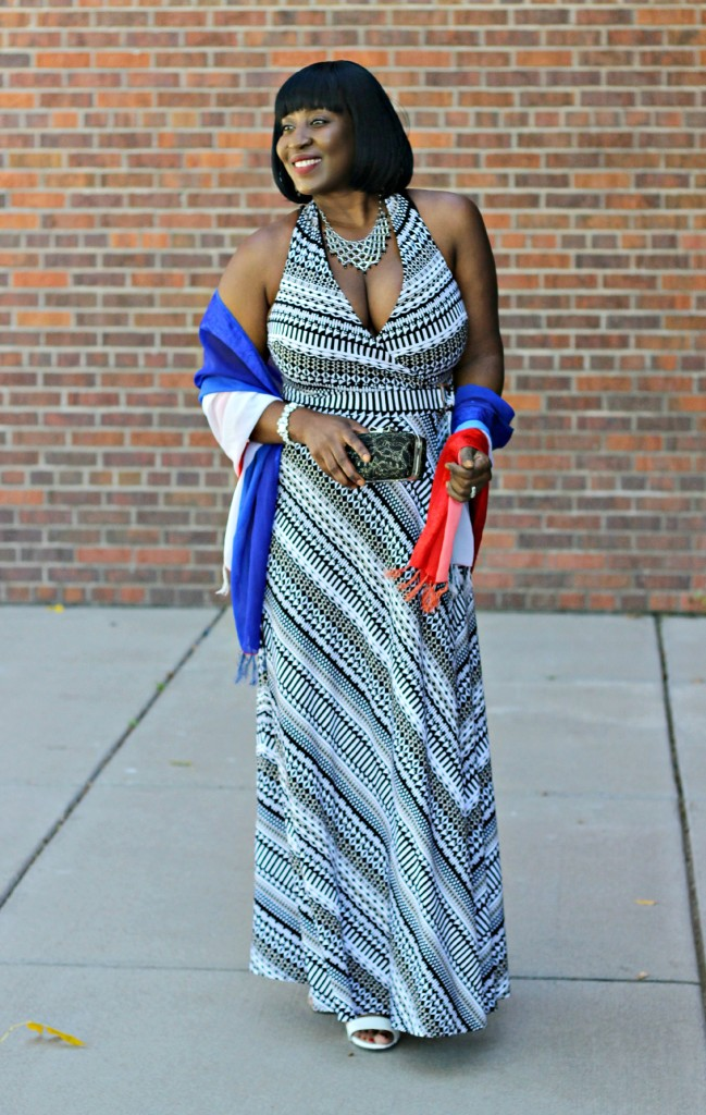 Printed Maxi Dress for Fall 16