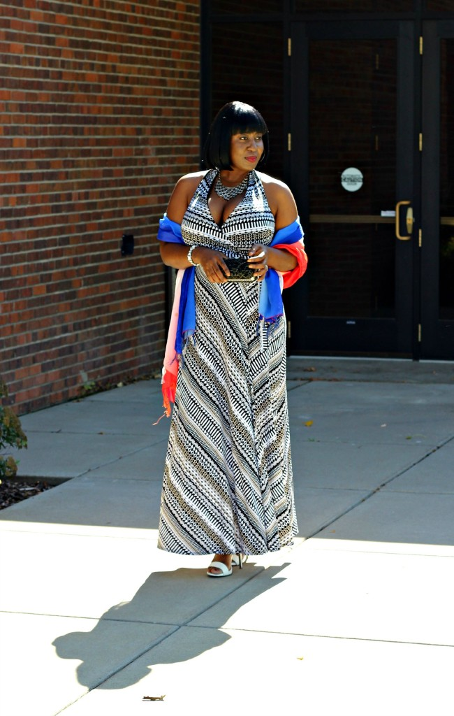 Printed Maxi Dress for Fall