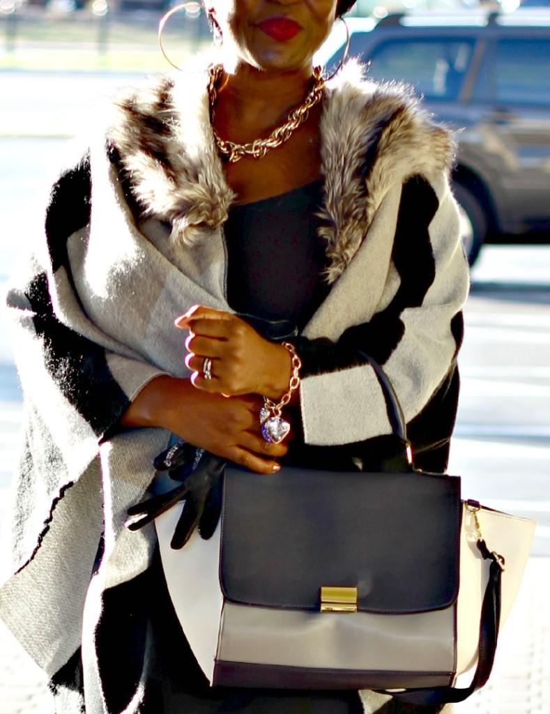 Gray and black Poncho Fur 11