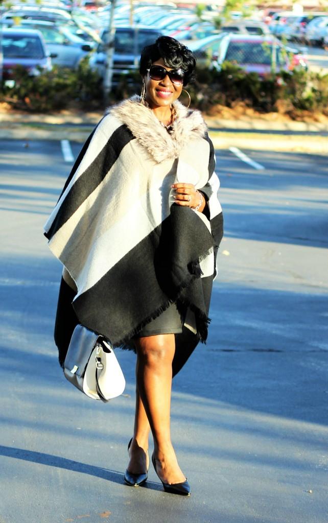 Gray and black Poncho Fur 19
