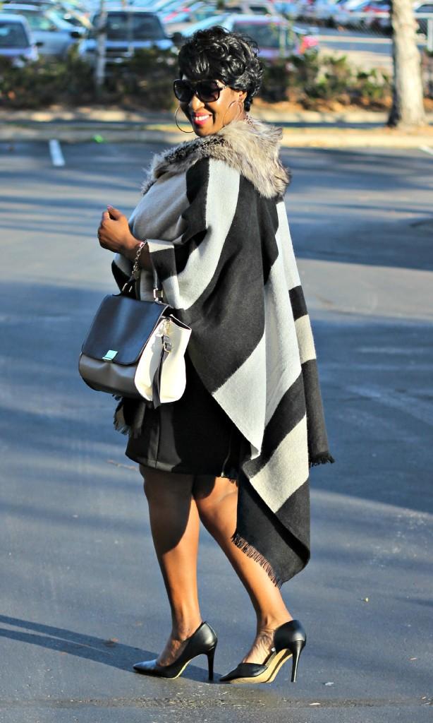 Gray and black Poncho Fur 21
