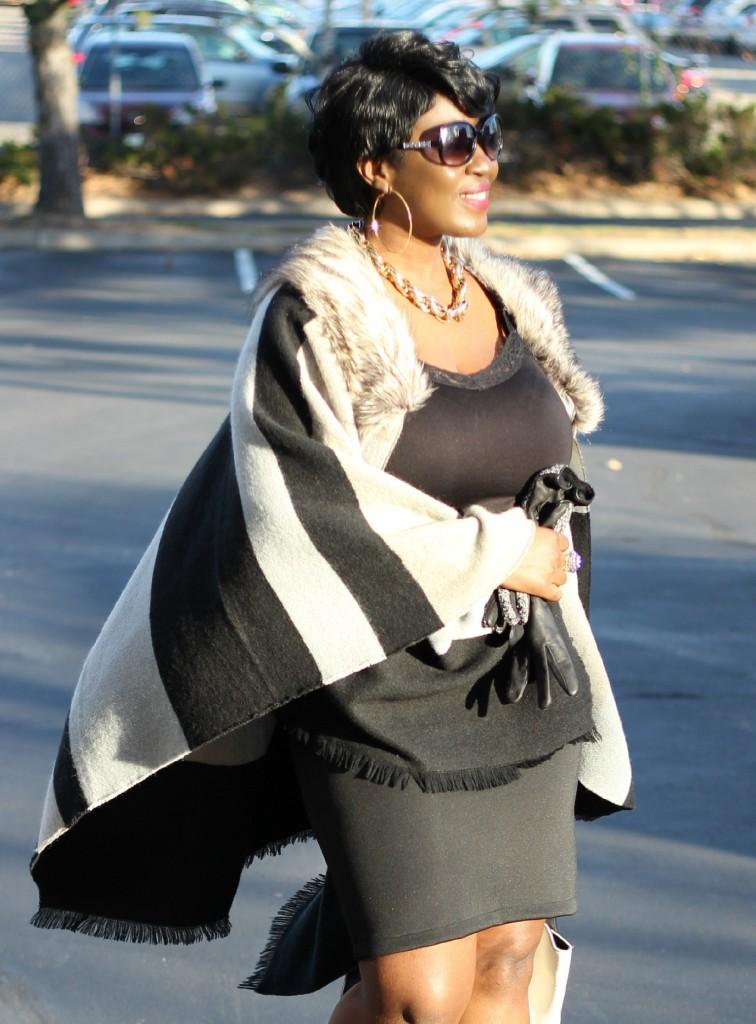 Gray and black Poncho Fur 27!!!