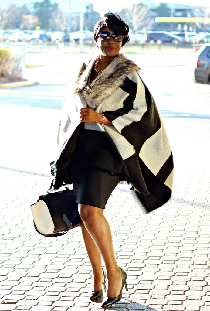Gray and black Poncho Fur 6