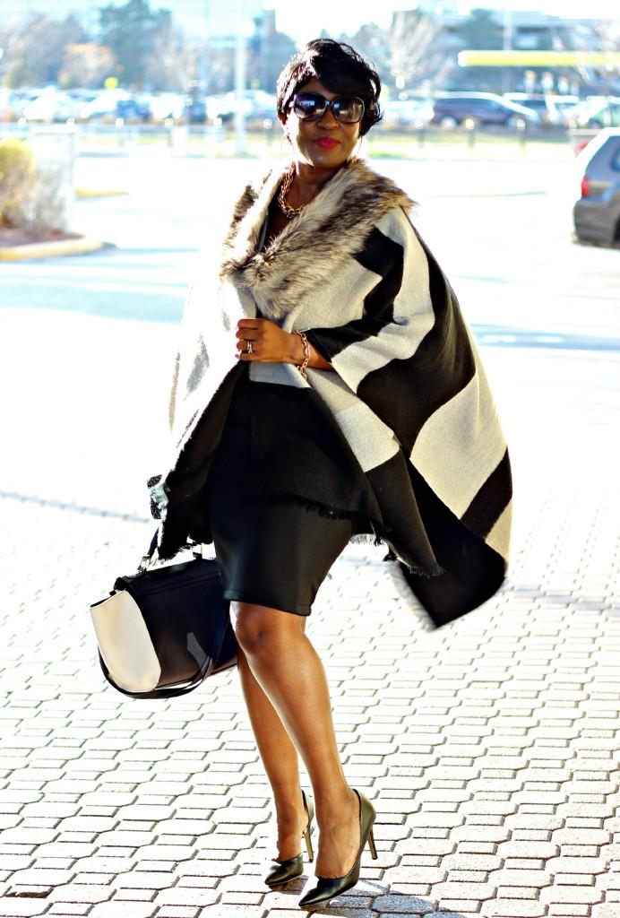 Gray and black Poncho Fur 6