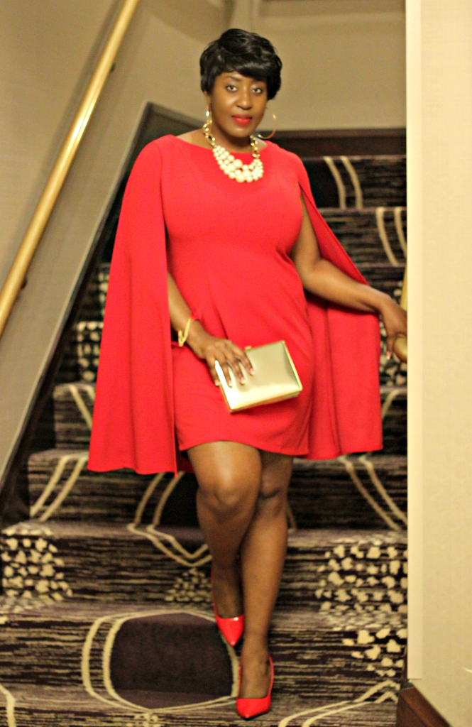 Lady in Red and cape 15