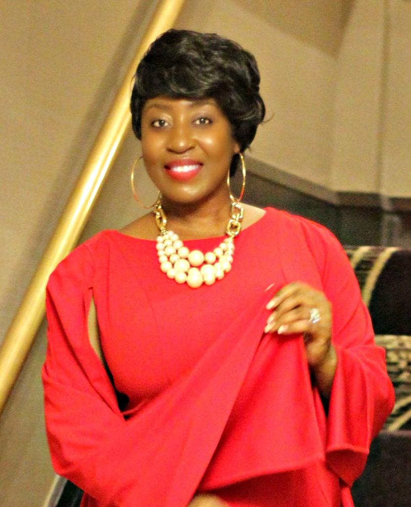 REd cape dress 7