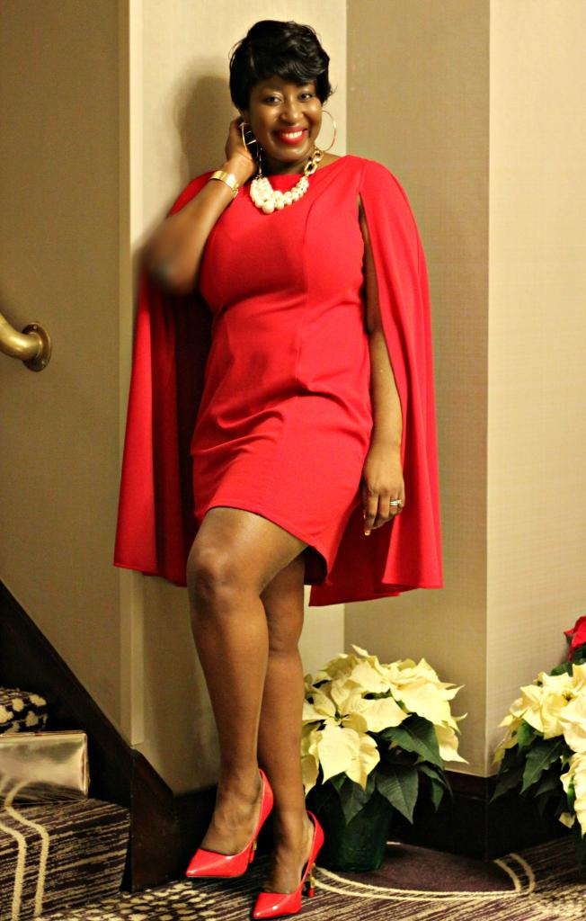 red adriana ppapel dress