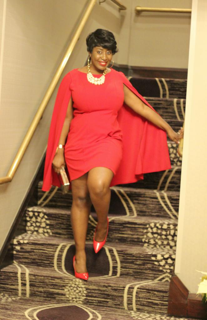 red cape dress 6