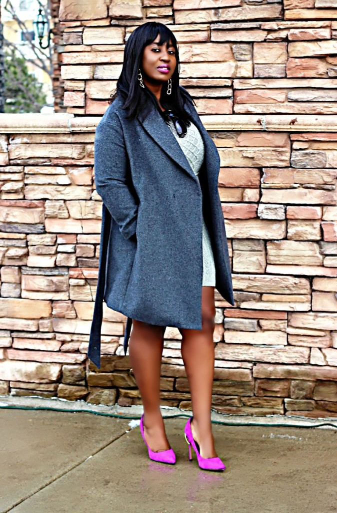 All gray winter outfit 1