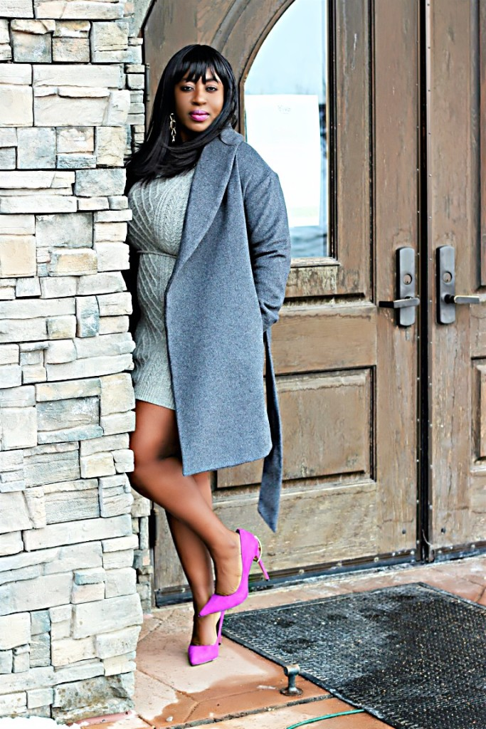 All gray winter outfit 5