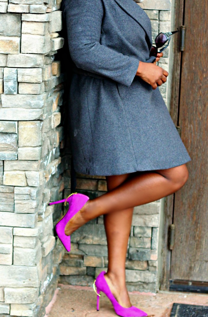 Gray Sweater dress and Coat 230