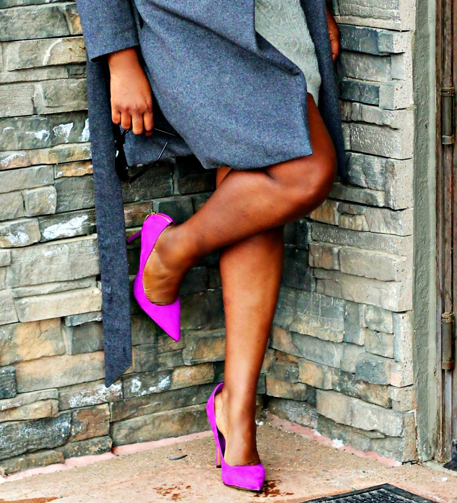 Gray Sweater dress and Coat 301