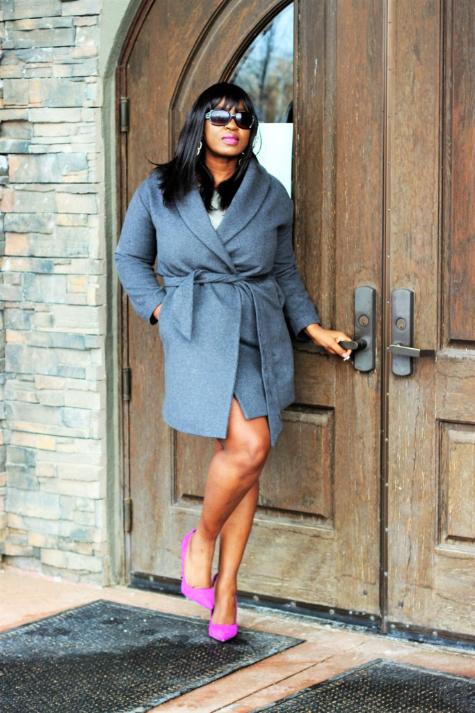 Gray Sweater dress and Coat 99