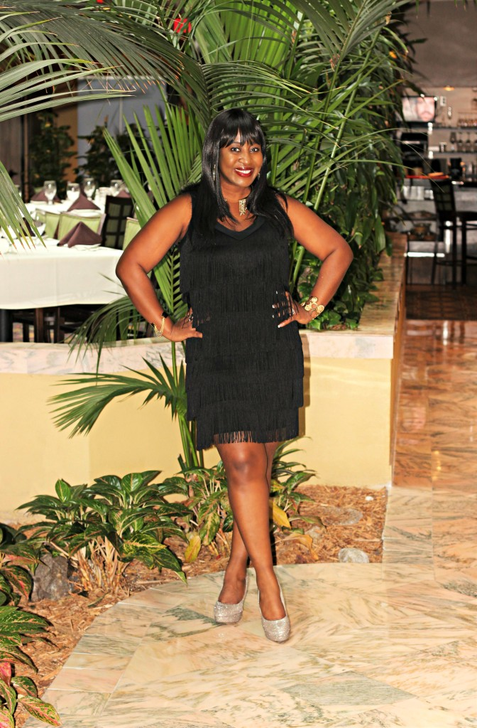 Little black fringe dress - Copy