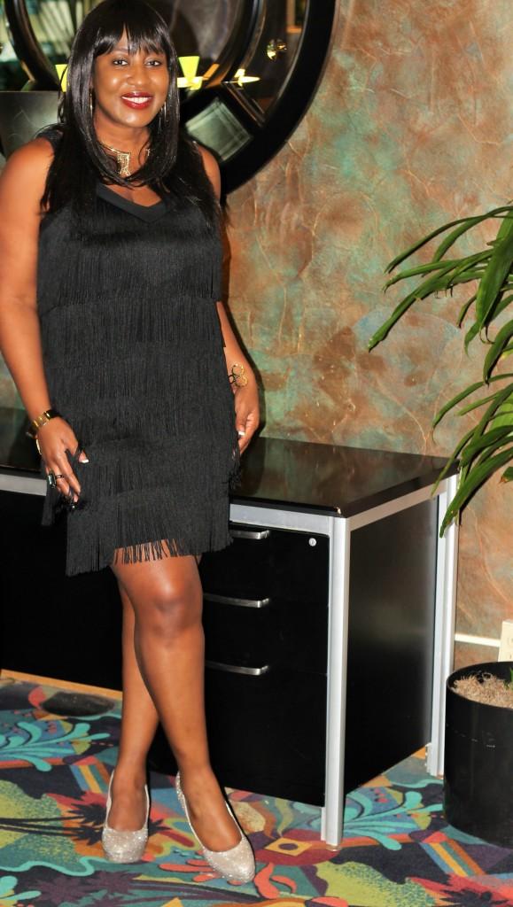 Little black fringe dress!!!191 - Copy