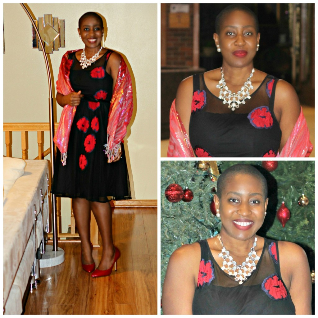 Red rose dress 2 Collage