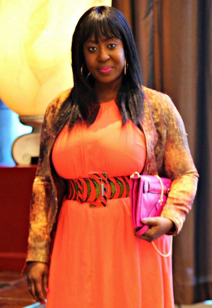 Coral Dress- Ankara-belt-Structured Blazer 113