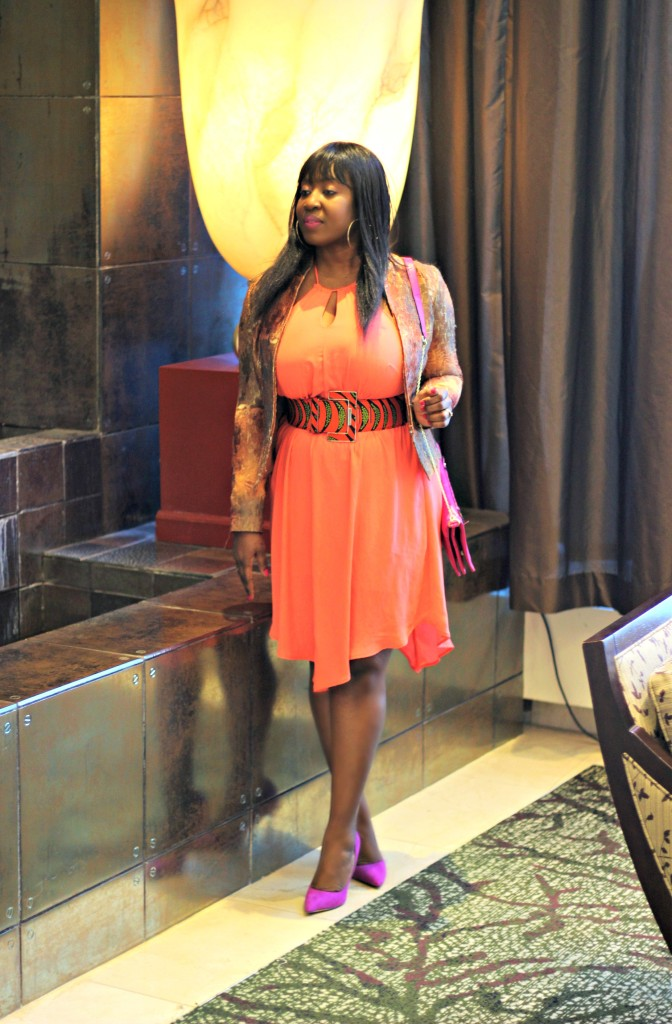 Coral Dress- Ankara-belt-Structured Blazer 13