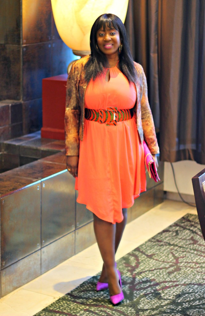 Coral Dress- Ankara-belt-Structured Blazer 14