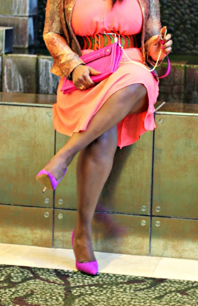 Coral Dress- Ankara-belt-Structured Blazer 21
