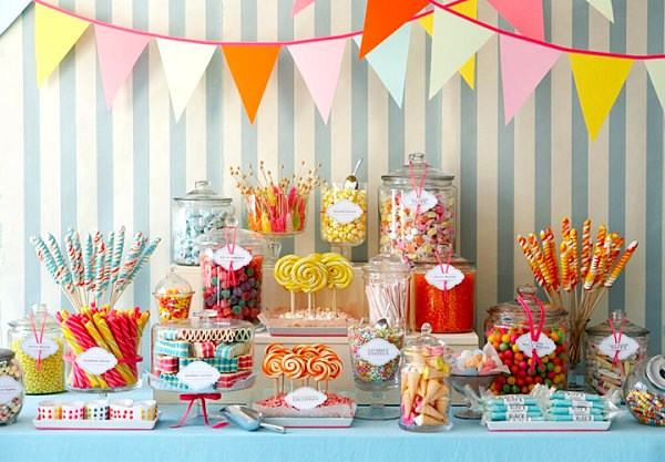 Spring-party-candy-table