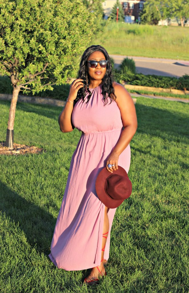 Dusty Mauve slit goddess maxi dress 1121!!!