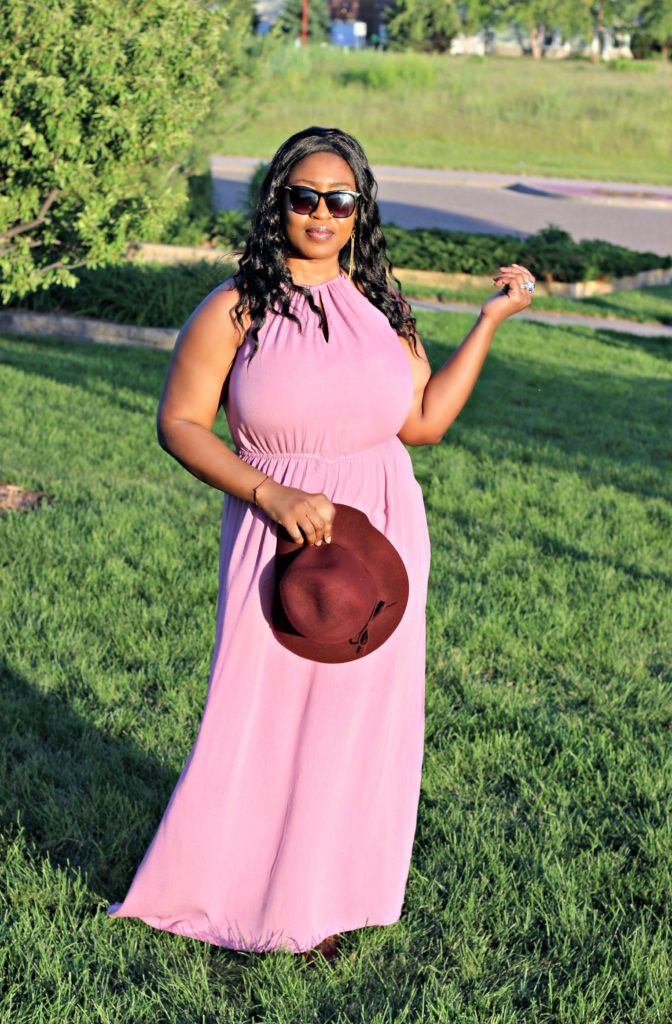 Dusty Mauve slit goddess maxi dress 451!!!