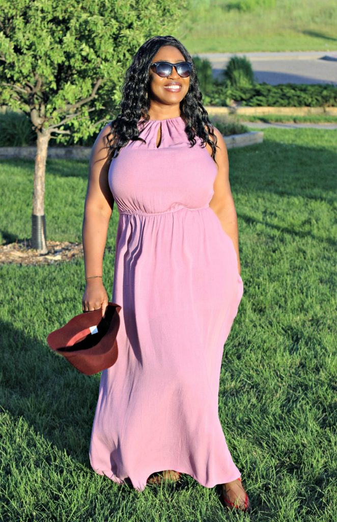 Dusty Mauve slit goddess maxi dress 4521!!!