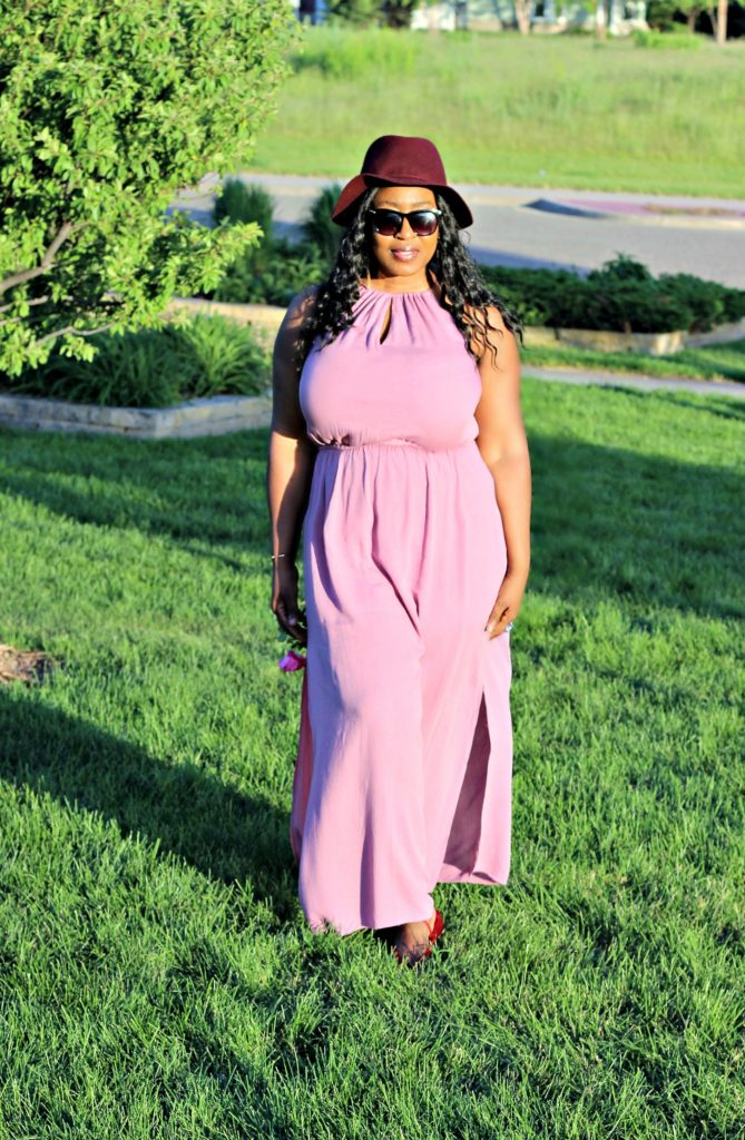 Dusty Mauve slit maxi dress 1!!!