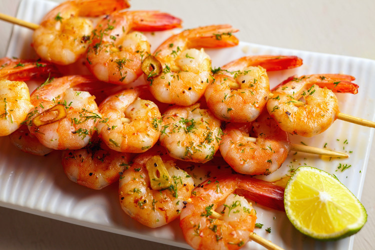 Garlic-Lime-Shrimp-Skewers