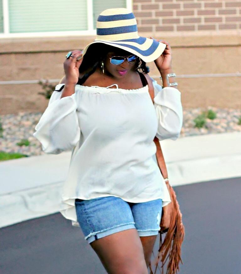 beautifl off shoulder summer top and shorts