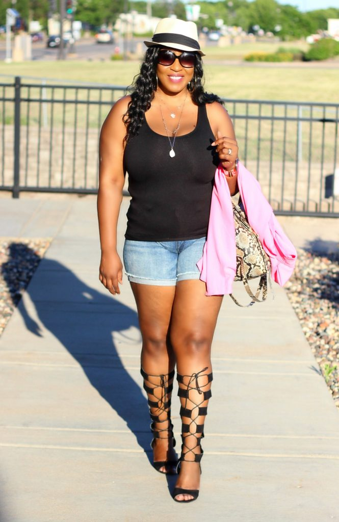 Amazing Awesome summer-outfit-shorts-and-gladiators !10