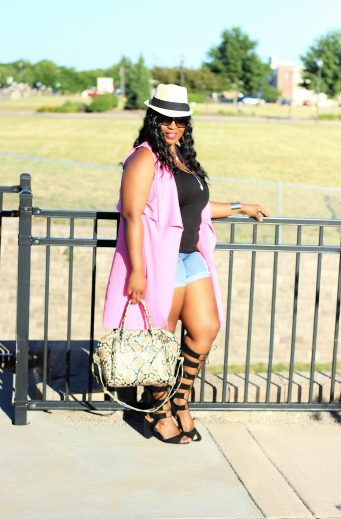 beautiful-pink-vest- and jeans -and -lace -up-gladiators-shoes