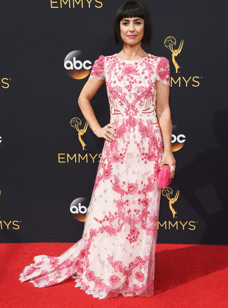LOS ANGELES, CA - SEPTEMBER 18: Actress Constance Zimmer attends the 68th Annual Primetime Emmy Awards at Microsoft Theater on September 18, 2016 in Los Angeles, California. (Photo by Frazer Harrison/Getty Images)