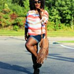 How to transition into Fall in fab booties and shorts