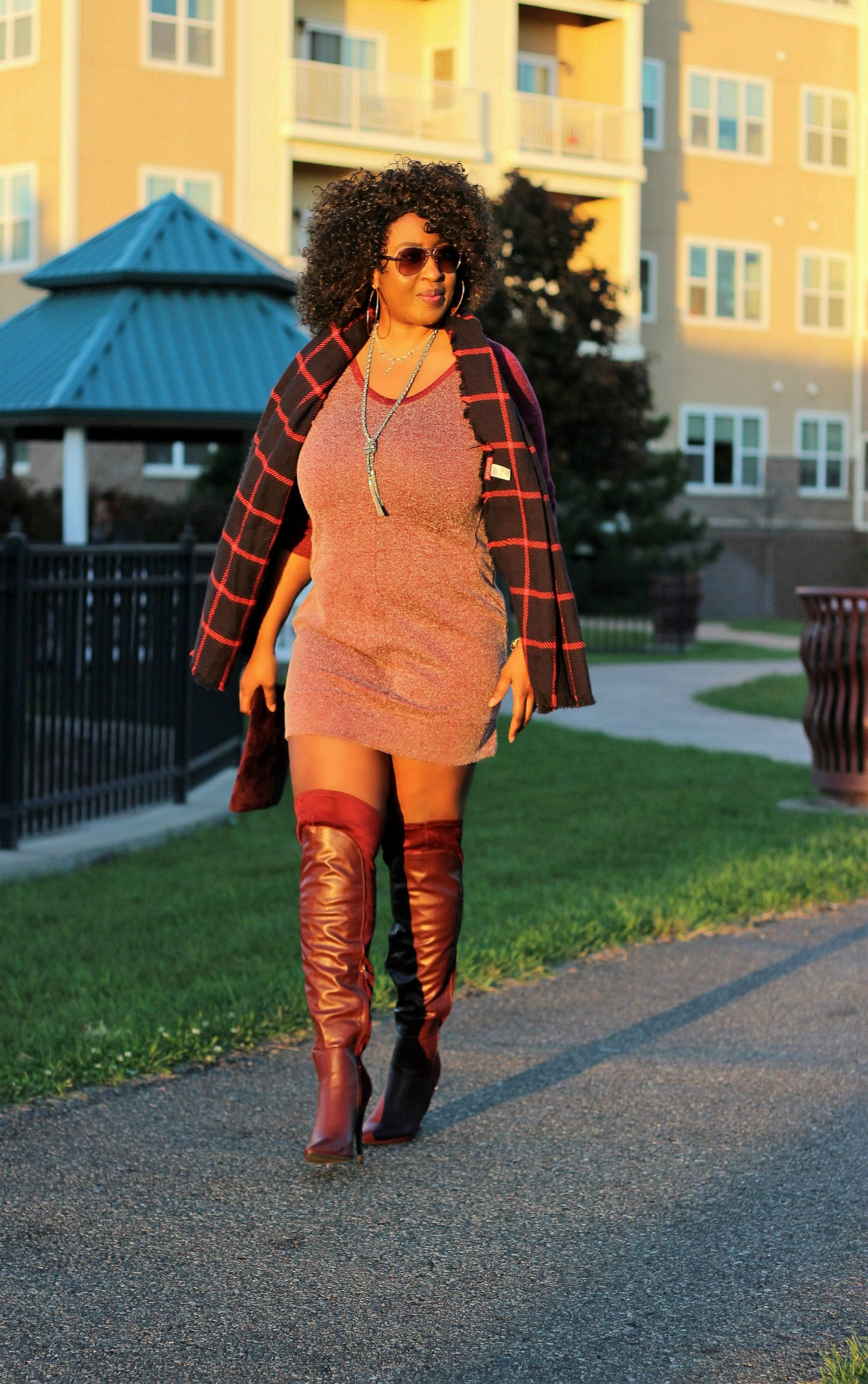 burgudy-tunic-and-boots-and-plaid-for-fall5