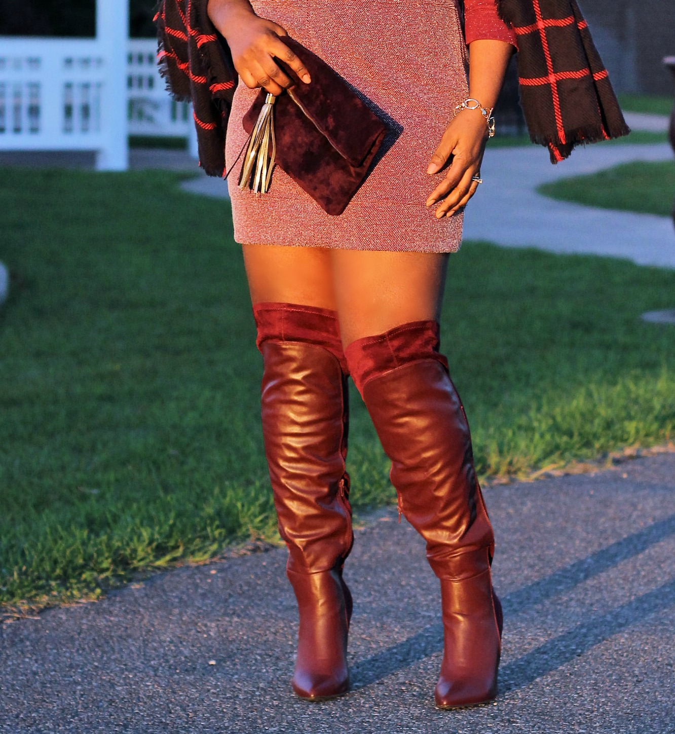Oxblood-burgundy-boots -and-plaids