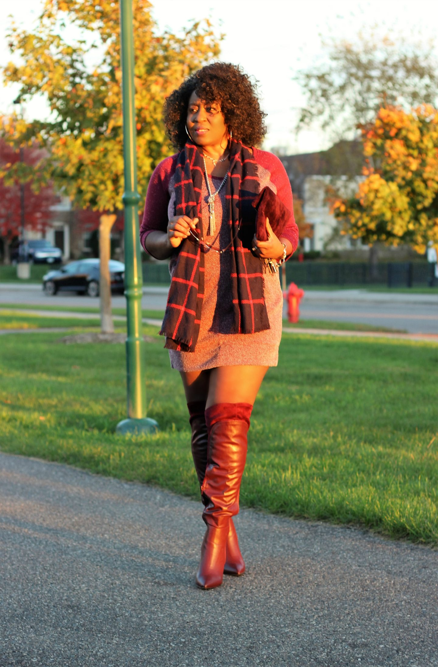 oxblood-sweater-and-boots-and-plaids-scarf-20