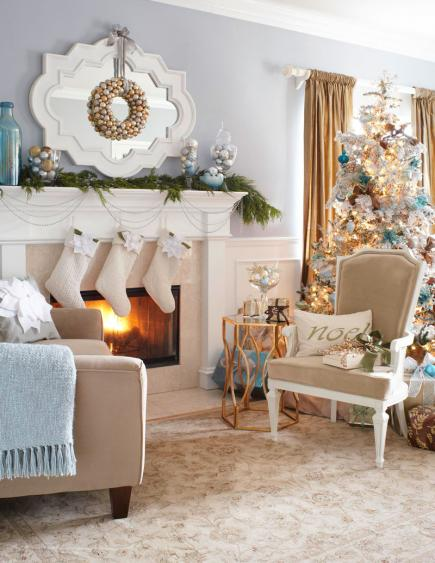 white- and -silver-Christmas-decor