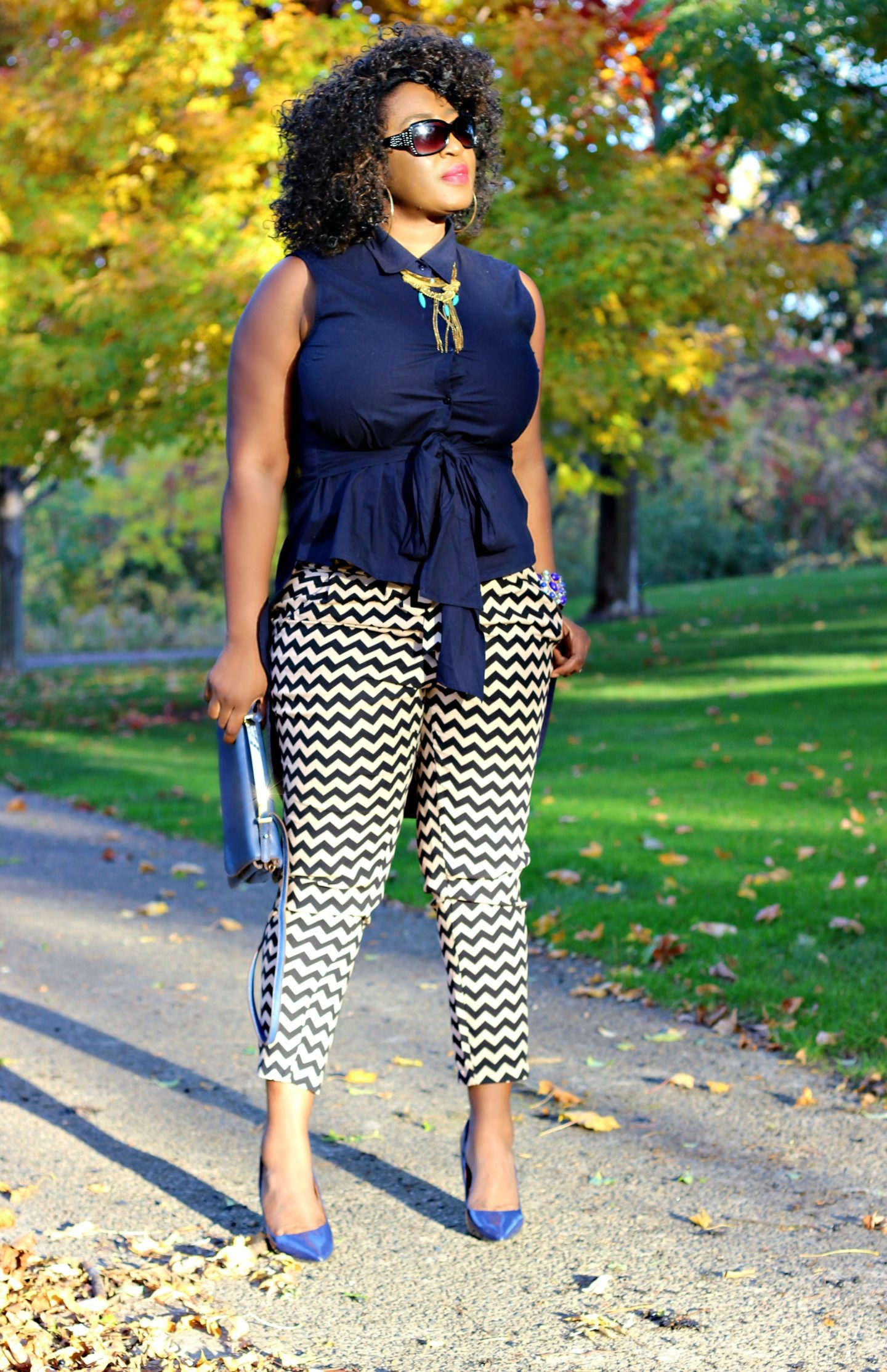 high-low-blue-top-chevron-pants