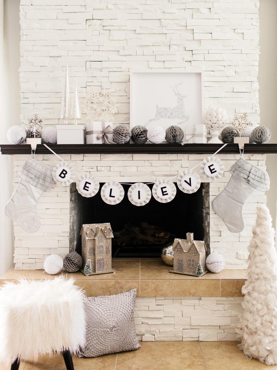 Holiday-mantel-fireplace-decorations -ideas