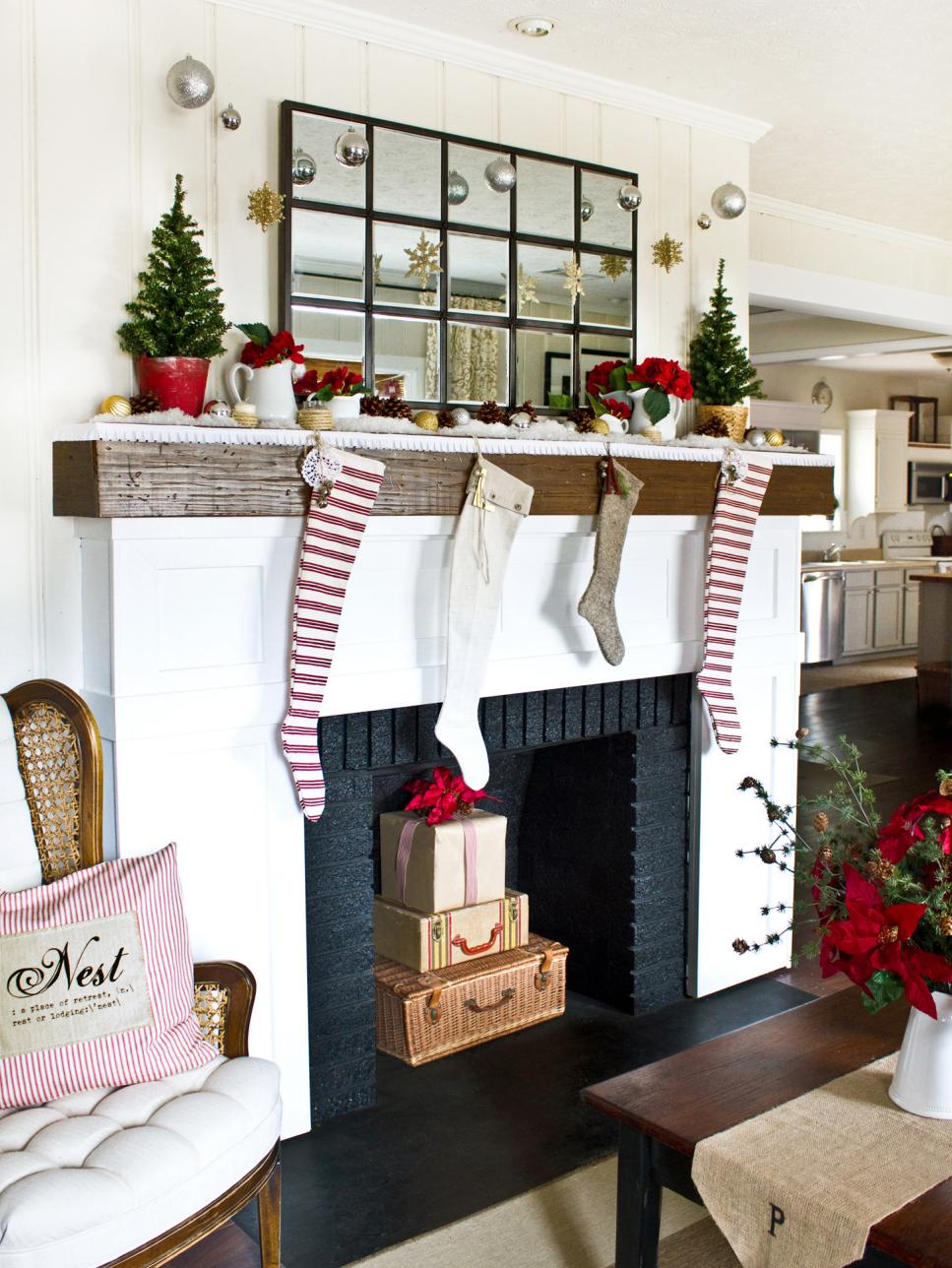 mantel fireplace decor for christmas - Beautiful Mantel Christmas Decorations