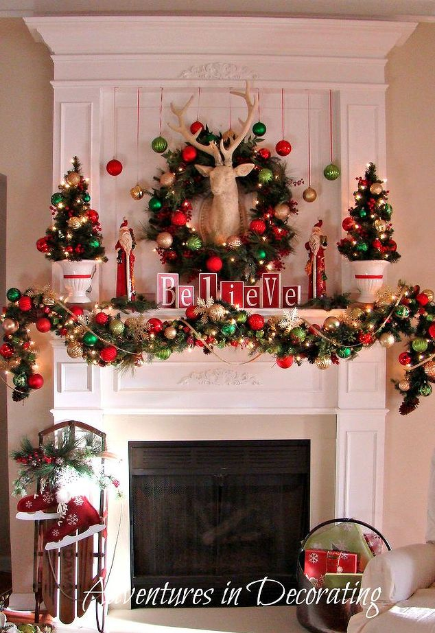 hypnozglam.com-fireplace-mantel-holiday-decor -hypnozglam.com