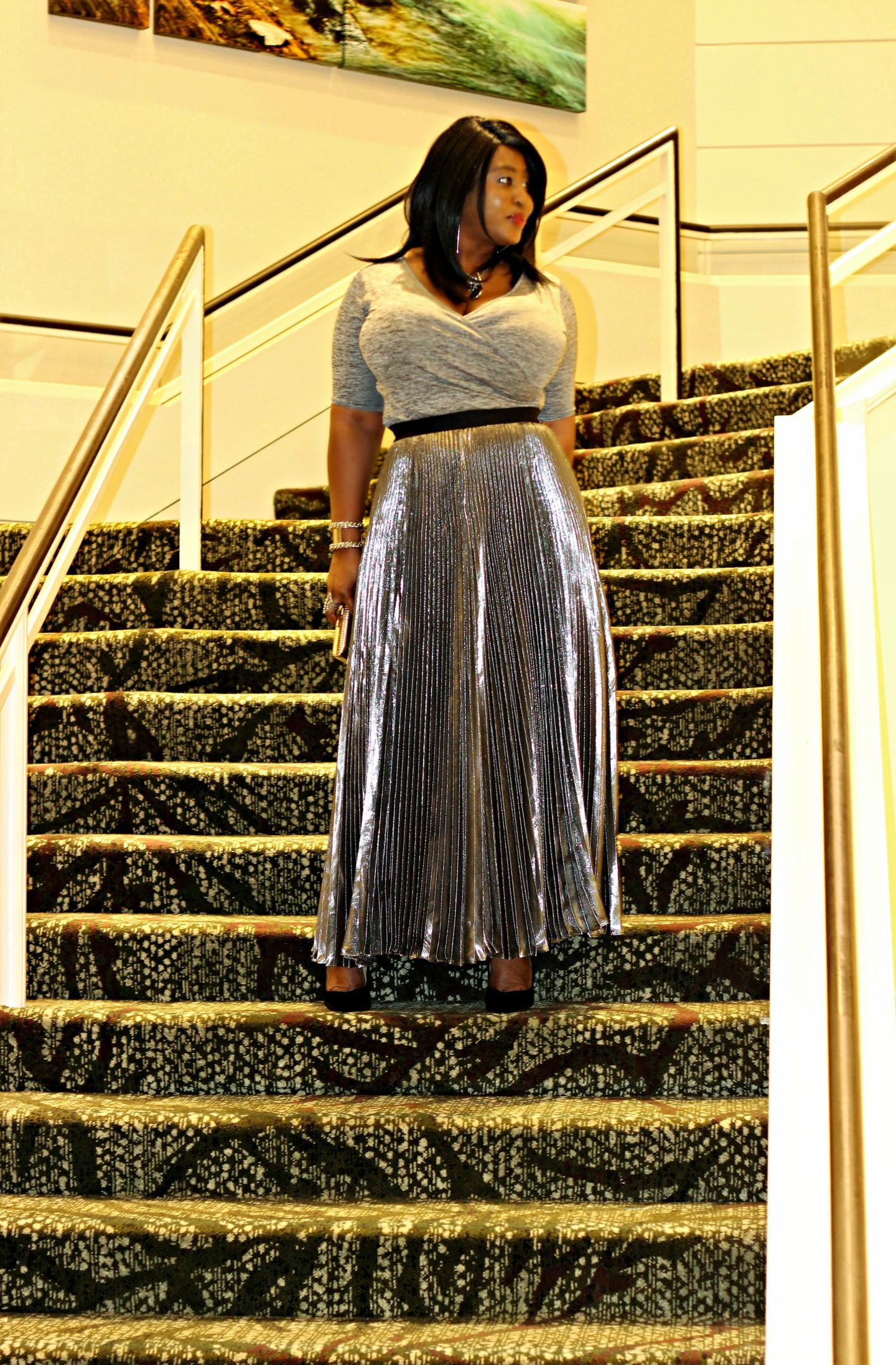 silver-pleated-metallic-long-skirt