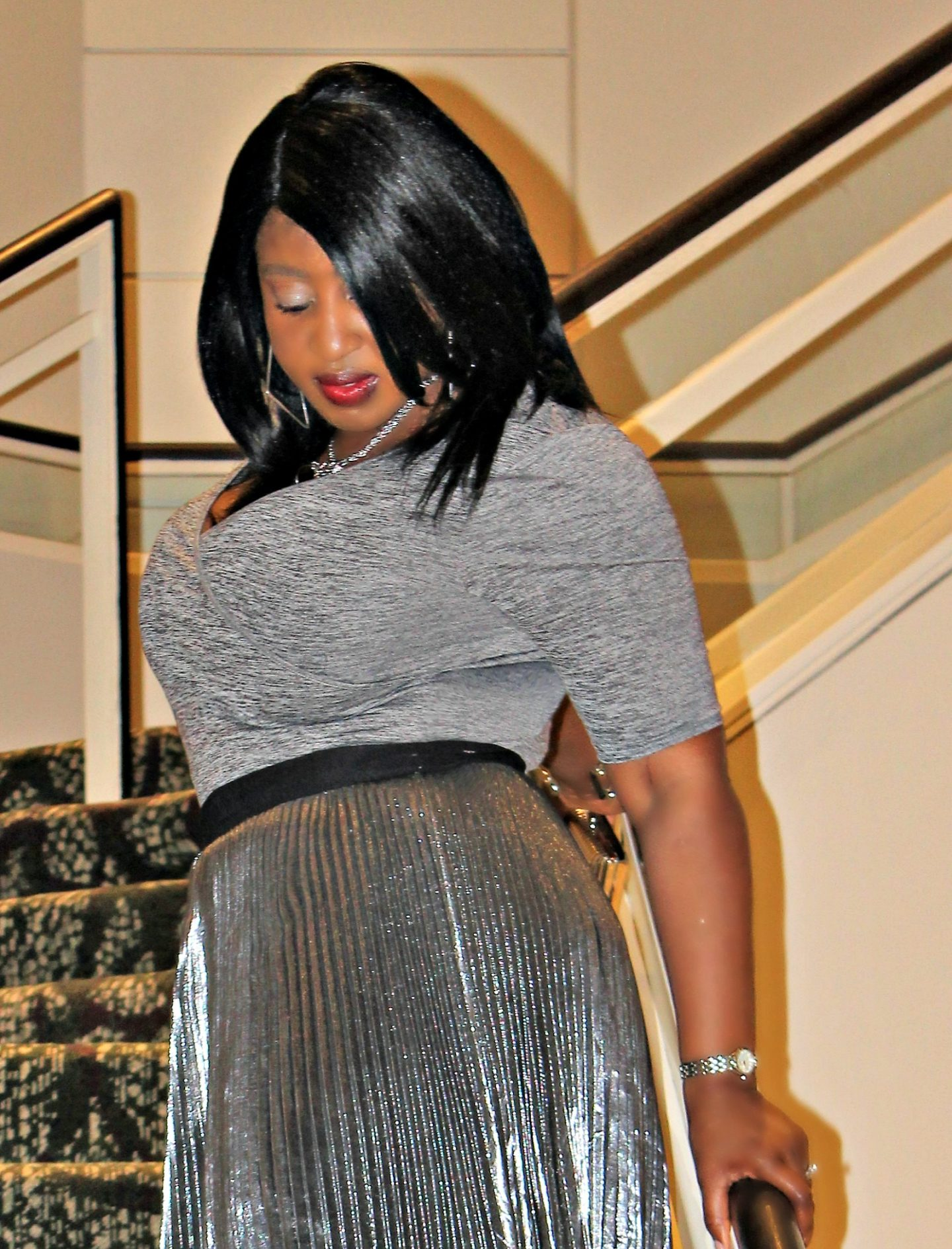 valentines-day-silver-metallic-pleated-skirt