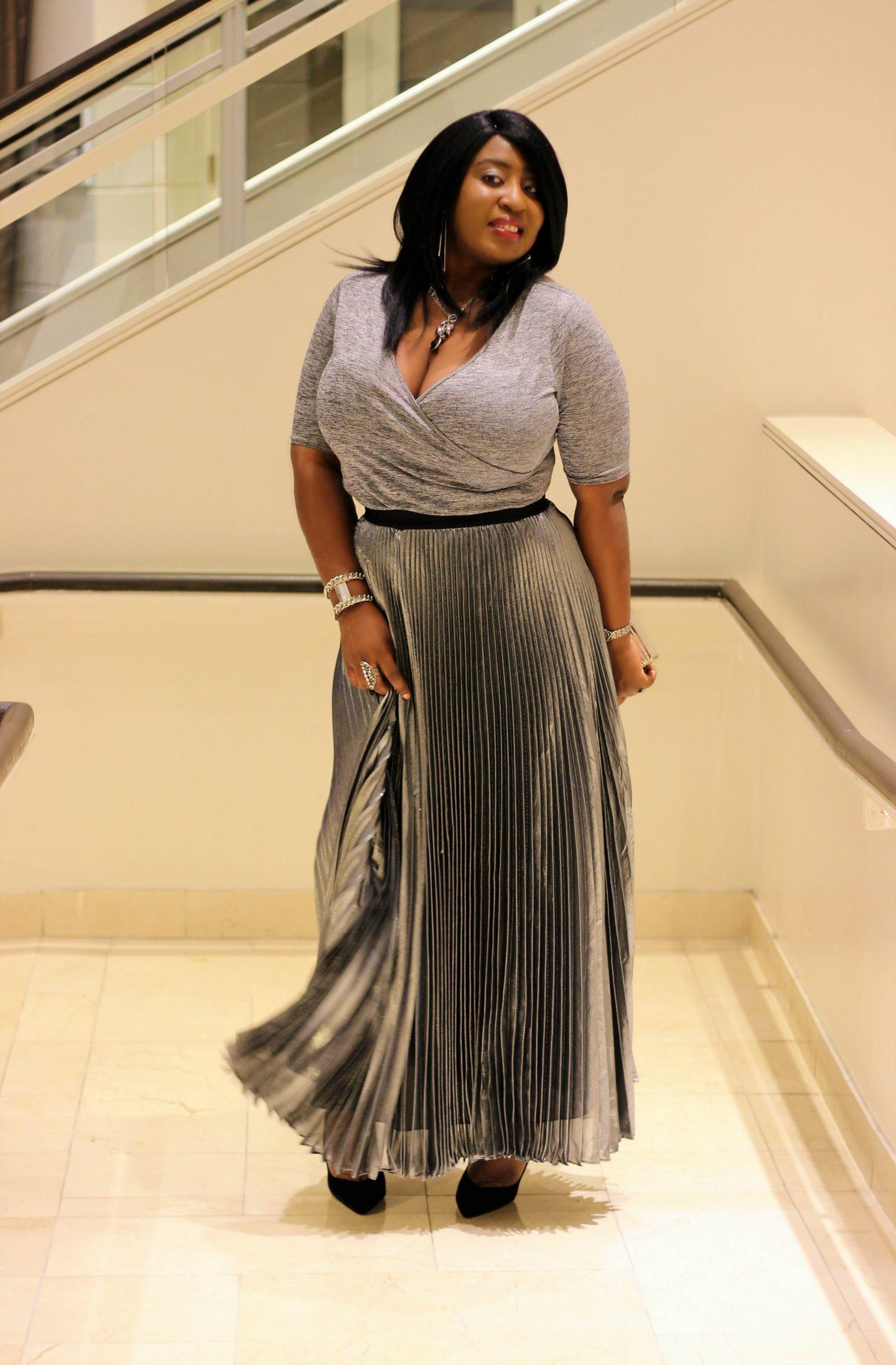 silver-pleated-metallic-long-skirt