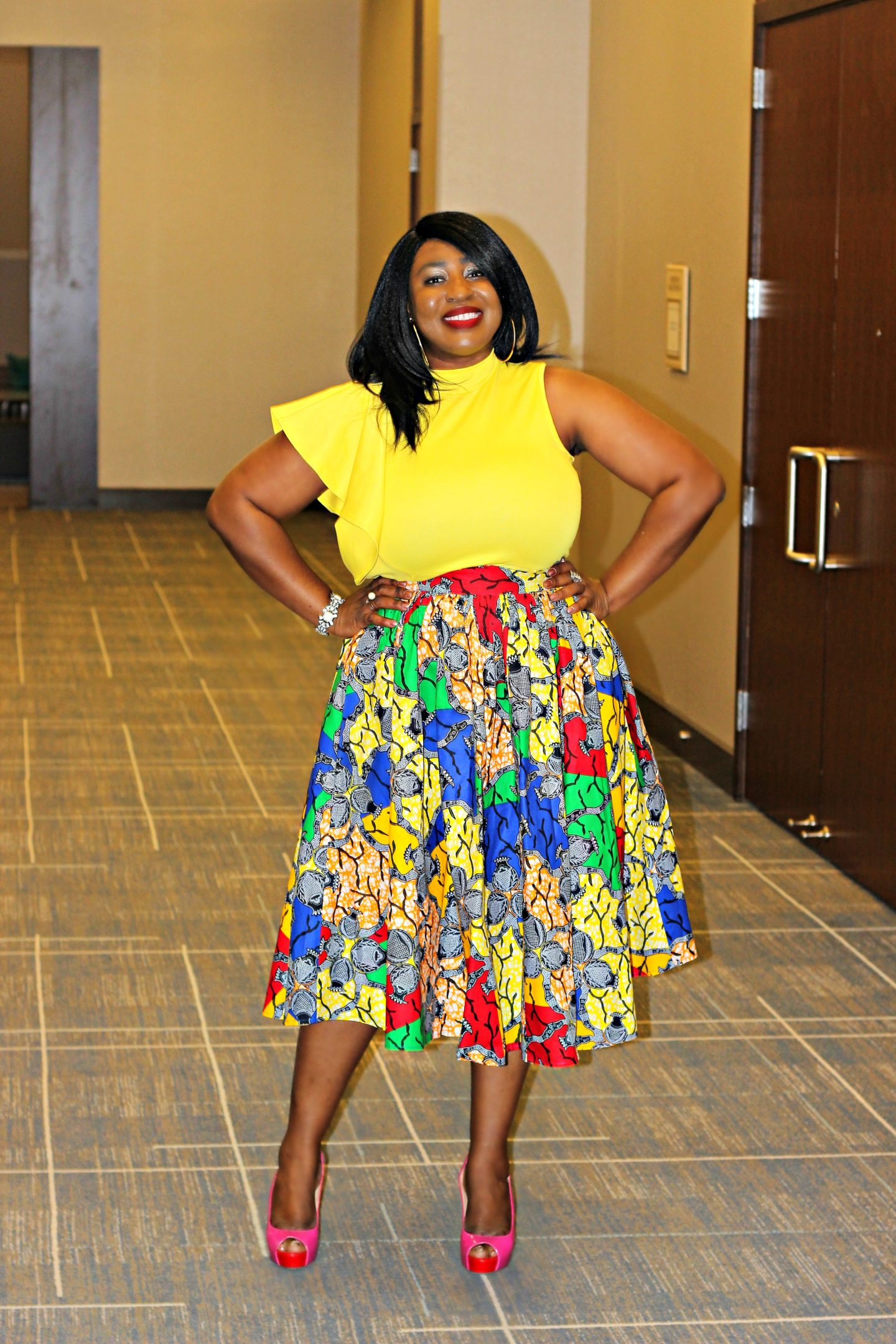 eki-multi-print-midi-skirt-yellow-top