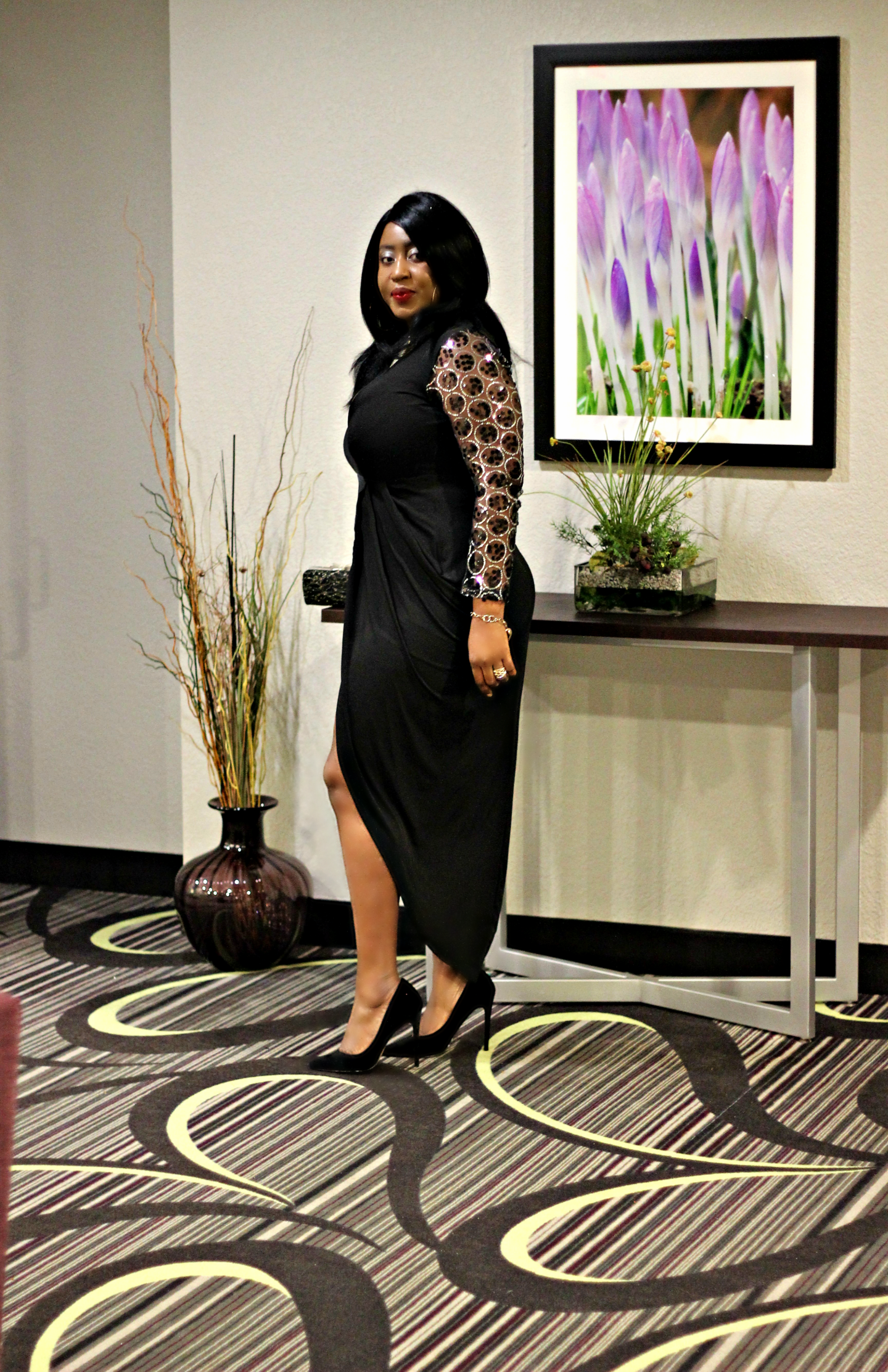 The Stella Embellished Black Dress